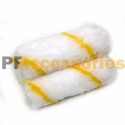 "3 Rolls 4"" inch Mini Paint Roller Covers Refill Gold Stripe Soft Woven 1/2"" Nap"