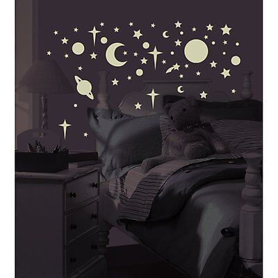 RoomMates RMK1141SCS Celestial Glow in the Dark Peel & Stick Wall Decals, 258CT
