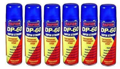 6x250ML DP-60 PENETRATING RELEASING CLEANING MAINTENANCE SPRAY CAR LUBRICANT HLU