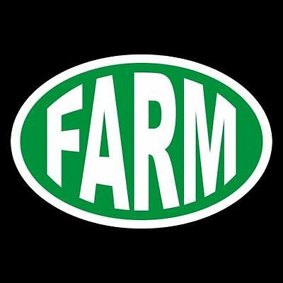 "New ""FARM"" farming CAR WINDOW DECAL tractor BUMPER STICKER no food, farmer, use"