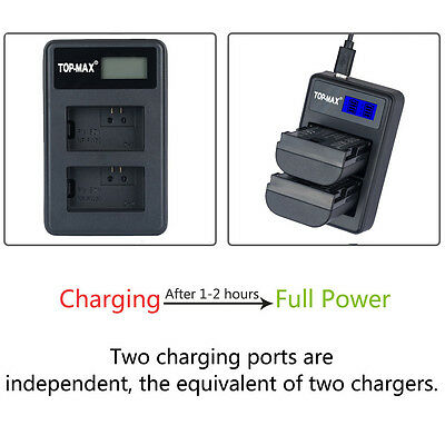 Dual Battery charger for Sony NP-FW50 A5000 A6000 NEX 7 5T 5R 5N 5C 3N A7 A7R