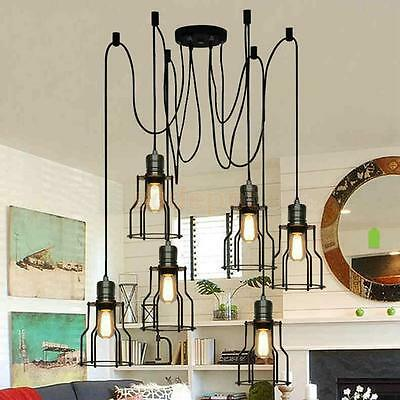 Retro Industrial Metal Ceiling Hanging Light Lamp Shade Decor No Wire Pendant