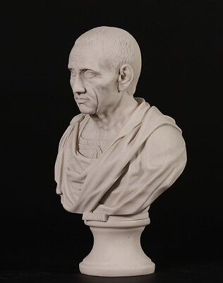 Roman Emperor Brutus Bust Carrara Marble Sculpture. Made in UK. • CAD $126.67