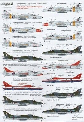 Xtradecal X72123 1/72 Hawker Hunter Two Seaters Model Decals