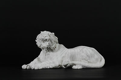 Tiger Carrara Marble Sculpture. Made in UK.