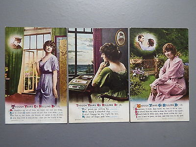 R&L Postcard: Bamforth Song Card Set Series 4943 Though Years Go Rolling By