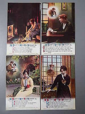 R&L Postcard: Bamforth Song Card Set Series 4946 My Heart is With You Tonight