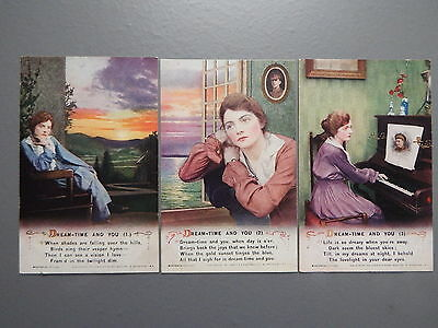 R&L Postcard: Bamforth Song Card Set Series 4989 Dream-Time and You, Soldier