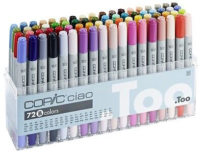 Copic Ciao Marker - 72B Manga Marker Set - Refillable With Copic Various Inks