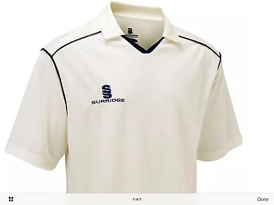New Men's White Cricket Shirt In Uk Large Size