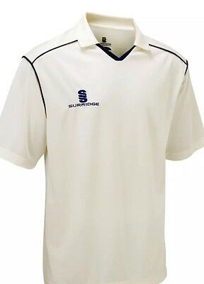 New Men White Cricket Shirt Tops Cricket Clothing  UK  Sizes