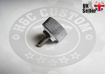 """1/4""""-20 Thread Knurled Seat Mount Bolt Screw Thumbscrew Sportster Dyna Bobber"""
