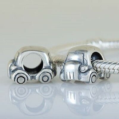 Genuine Solid 925 Sterling Silver Car, Motor Car Charm Bead