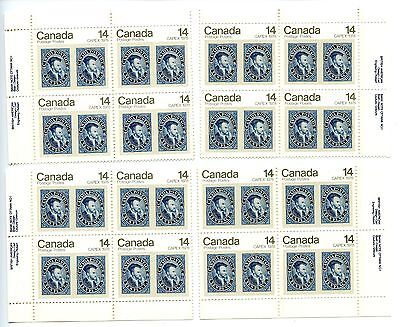 LOT 50216a MINT NH 754 MATCHING SET PLATE BLOCKS 1978 CAPEX JACQUES CARTIER
