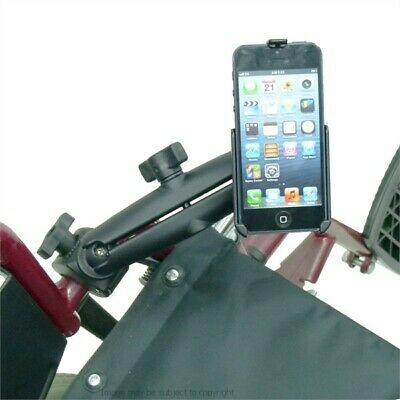 Dedicated RAM Long Arm Phone Holder & Wheelchair Mount for iPhone 5 / 5S
