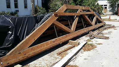 Antique Heart Pine Trusses Circa 1897