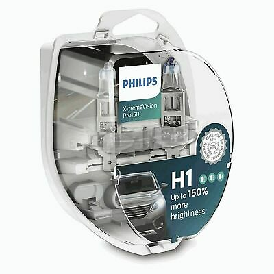H1 Philips X-treme Vision +130% Halogen Headlight Bulb 12258XV+S2 12V 55W