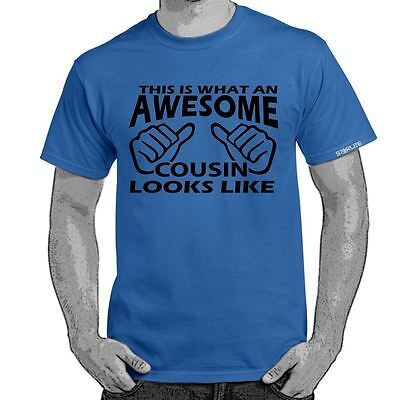 ALM786t-Mens Funny Sayings Slogans t shirts -Awesome Cousin-Funny tshirts