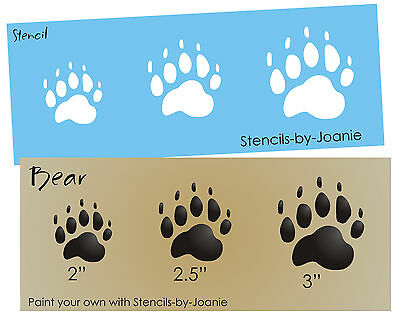 Rustic Animal Stencil Bear Paw Print Hunt Track Outdoor Lodge Art Cabin Signs