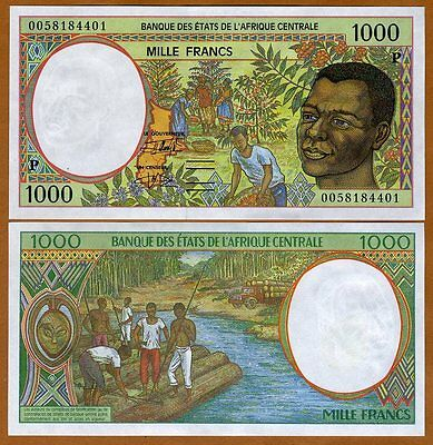 Central African States, Chad, 1000 francs, 2000  P-602Pg, UNC