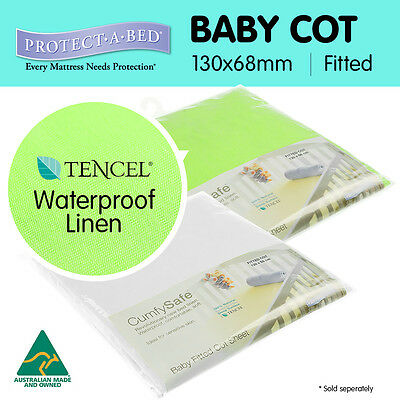 Protect a Bed Fitted Waterproof Mattress Protector Baby Cot Sheet Made in AUS