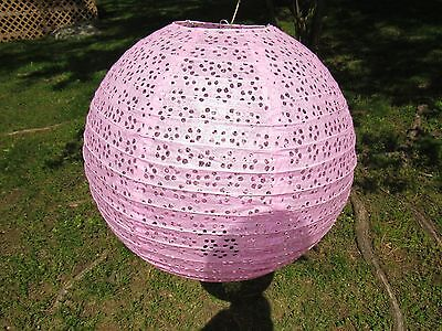 "(11) Asian Chinese Paper Lantern Lamp Shades 16"" (Pink)"