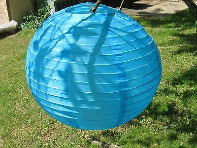 "(15) Asian Chinese Paper Lantern Lamp Shades 14"" (Blue)"