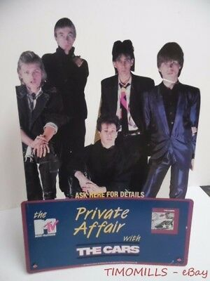 1983 THE CARS MTV Private Affair Record Store Counter Sign Heartbeat City era VG
