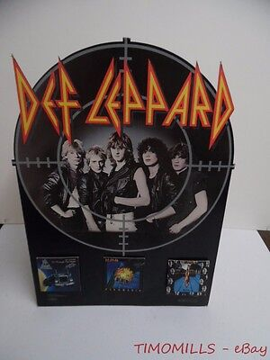 1983 DEF LEPPARD Pyromania On Through Night High n Dry Record Store Sign Vintage