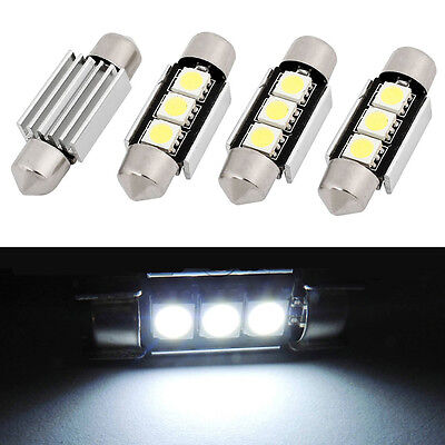 10x 36mm 3SMD 5050 C5W CANBUS Error Free LED Bulb License Plate Dome Light new