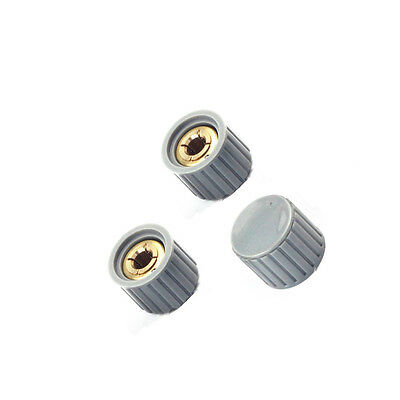 5pcs KYZ20-16-6 20*16*6mm Plastic Gray Potentiometer Knob Cover Cap NEW