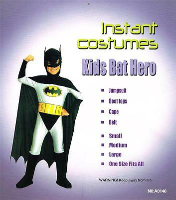 NEW KIDS Batman Super Hero Halloween Fancy Dress Costume FREE SHIPPING!!!