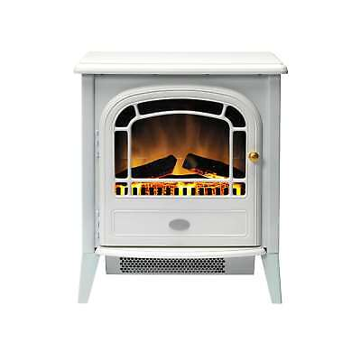 Dimplex CVL20N 2kW Courchevel Electric Flame Effect Stove in White / Cast Iron