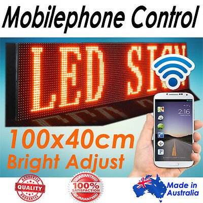 105x40cm, Phone/Wifi Control Scrolling Programmable Message/Menu LED Board/Sign