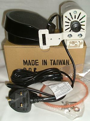 YDK Sewing Machine Motor & Foot Control/Pedal Fits Most Older Machines  BLB357