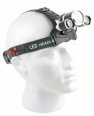 Adjustable 3x LED Torch Head Light w/ Built-In Battery Pack Ideal for Power Cuts
