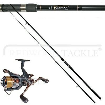 OAKWOOD Carp Fishing Rod & Double Handle Freespool/BTR Reel With Line
