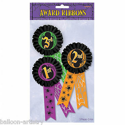 3 Halloween Fancy Dress Party 1st 2nd 3rd Place Winner Award Ribbon Prize Badges