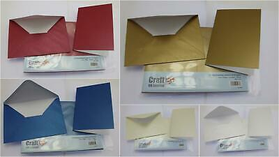 Craft UK Blank Greeting Cards & Envelopes - A6/C6 Pearlescent Finish 20 Pack