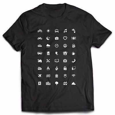 Traveller T-Shirt With Icons Global World Tee Iconspeak New