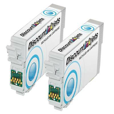 2pk T0872 CYAN Ink Cartridge For Epson Stylus Photo R1900 T087 87 RECYCLED