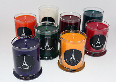 Soy Candle 7oz. in Clear Round Glass Tumbler Handmade from Paris Candle Co.