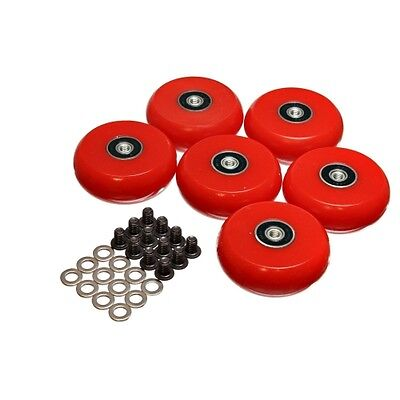 Energy Suspension 9.9172R Creeper Wheel Red 2 3/8 in./60mm. Qty 6