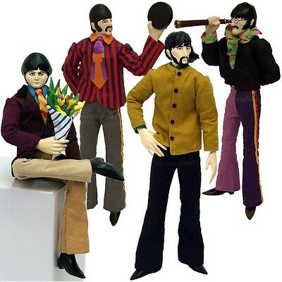 """*DAMAGED PACKAGING* Yellow Submarine BEATLES LOT OF 4 Figures 12"""" Factory"""
