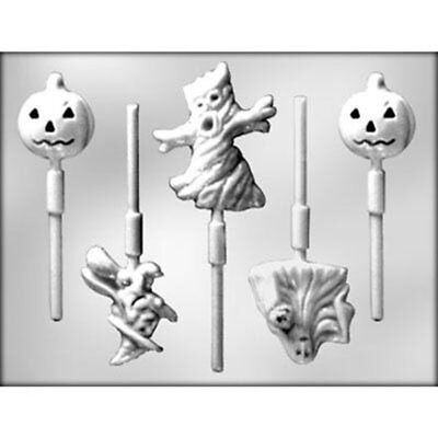 Halloween Assortment Lollypop Chocolate Candy MOLD Spooky Tree Pumpkin