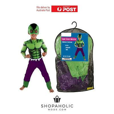 KIDS The Hulk Avengers Marvel Super Hero Halloween Fancy Dress Costume