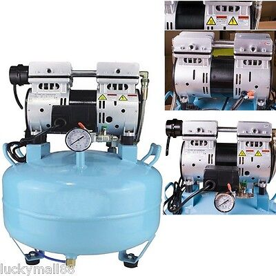 Medical Noiseless Oil Free Oilless Air Compressor 30L 550W 130L/min Dental Chair