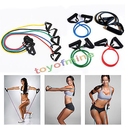 1x Stretch Fitness Band Muskel Übung Latex Tube Expander Schlank Für Yoga GYM