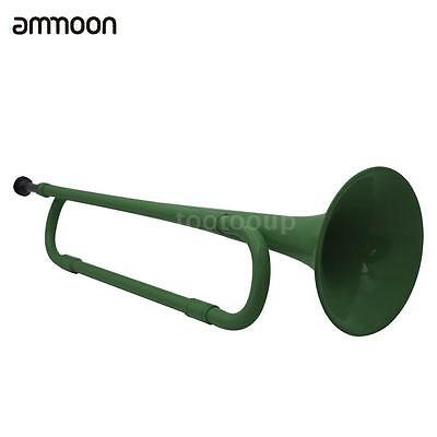 ammoon B Flat Bugle Cavalry Trumpet Plastic with Mouthpiece for Band L7V5