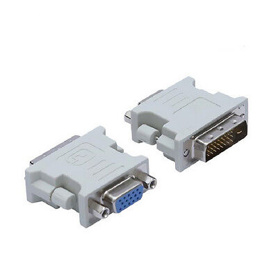 15 Pin PC Laptop Female Video Converter for 24+1 pin Adapter DVI-D Male to VGA